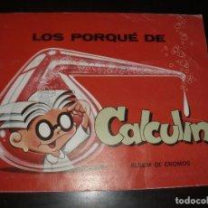 Coleccionismo Álbum: ALBUM LOS PORQUÉ DE CALCULIN,REVISTA PETETE,COMPLETO. Lote 92256880