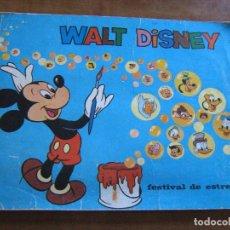 Coleccionismo Álbum: ALBUM COMPLETO WALT DISNEY - FESTIVAL DE ESTRELLAS - CHICLES BAZOOKA -TOPPS TARDA IBERICA S.A.. Lote 92280670
