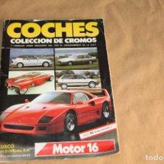 Coleccionismo Álbum: COCHES, MOTOR 16, ALBUM DE CROMOS COMPLETO, EDITORIAL MAGA, AÑO 1970. Lote 92423655