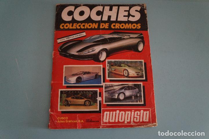 ÁLBUM COMPLETO DE COCHES AÑO 1990 DE CUSCÓ (Coleccionismo - Cromos y Álbumes - Álbumes Completos)