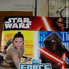 Coleccionismo Álbum: ALBUM CARDS STAR WARS TOPPS FORCE ATTAX COMPLETO. Lote 93229358