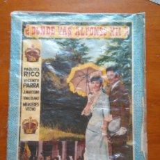 Coleccionismo Álbum: ALBUM DONDE VAS ALFONSO XII PAQUITA RICO VICENTE PARRA EDICIONES FHER FALTAN 2 CROMOS PARA COMPLETO. Lote 93251820