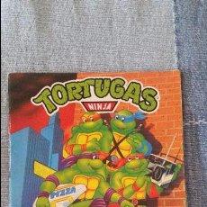 Coleccionismo Álbum: TORTUGAS NINJA - ÁLBUM CROMOS COMPLETO. SIN POSTER CENTRAL. Lote 93291645