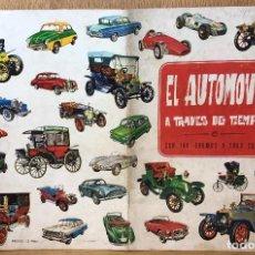 Coleccionismo Álbum: ÁLBUM EL AUTOMÓVIL TRAVÉS DEL TIEMPO - EDICIONES RAKER - AÑO 1965 (COMPLETO). Lote 94175285