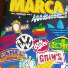 Coleccionismo Álbum: MARCA MANIA CONTIENE 205 CROMOS COMPLETO. Lote 94709159