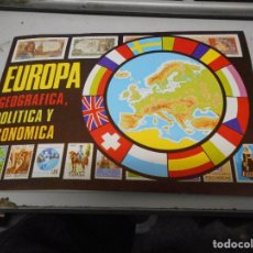 Coleccionismo Álbum: DIFICIL Y PERFECTO ALBUM COMPLETO EUROPA GEOGRAFICA POLITICA Y ECONOMICA BUENISIMO COMAS. Lote 96947667