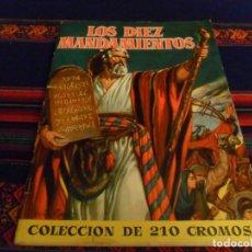 Coleccionismo Álbum: MUY BUEN ESTADO. LOS DIEZ MANDAMIENTOS COMPLETO 210 CROMOS. BRUGUERA 1959.. Lote 97192915