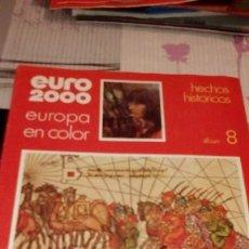 Coleccionismo Álbum: CAJ-BK380 ALBUM COMPLETO EURO AÑO 2000 EDITORIAL VICENS VIVES ALBUM 8 HECHOS HISTORICOS. Lote 97477531