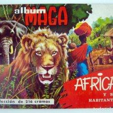 Coleccionismo Álbum: ALBUM 1965 MAGA AFRICA Y SUS HABITANTES. COMPLETO. MUY BUEN ESTADO. ANIMALES, RAZAS, COSTUMBRES. Lote 97648839