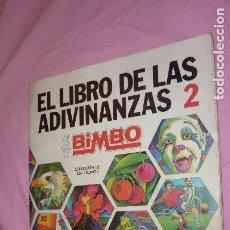 Coleccionismo Álbum: EL LIBRO DE LAS ADIVINANZAS 2 AUTÉNTICO ALBUM BIMBO AÑOS 70. Lote 98791467