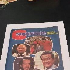 Coleccionismo Álbum: ÁLBUM SUPERTELE SUPER TELE COMPLETO 1981. Lote 98828618