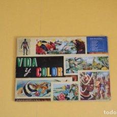 Collectionnisme Album: ALBUM COMPLETO VIDA Y COLOR - AÑO 1965. Lote 99144379
