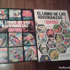 Coleccionismo Álbum: ALBUM EL LIBRO DE LAS ADIVINANZAS 1 Y 2 COMPLETO ORIGINAL BIMBO,DOS ALBUNES. Lote 99233867