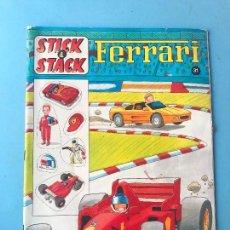Coleccionismo Álbum: STICK & STACK - FERRARI - PANINI (AÑOS 90) - COMPLETO USADO. Lote 99242023