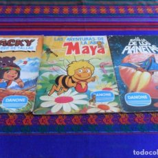 Sammeln Sammelalbum - LA BATALLA DE LOS PLANETAS, AVENTURAS LA ABEJA MAYA, JACKY EL OSO TALLAC COMPLETO. REGALO WILLY FOG. - 99356731