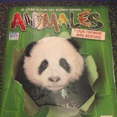 Coleccionismo Álbum: PRECIOSO ALBUM DE CROMOS COMPLETO ANIMALES, EL GRAN ALBUM DEL MUNDO ANIMAL 2013 WWF PANINI. Lote 99756215