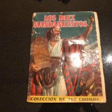 Coleccionismo Álbum: ALBUM COMPLETO LOS DIEZ MANDAMIENTOS EDITORIAL BRUGUERA 1959. Lote 100002071