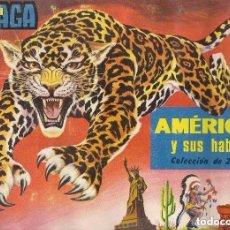 Coleccionismo Álbum: AMÉRICA Y SUS HABITANTES, ÁLBUM MAGA. Lote 100067571
