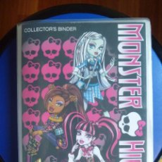 Coleccionismo Álbum: MONSTER HIGH COLLECTOR´S BINDER 108 COMPLETO + REGALO FIGURA. Lote 100464879