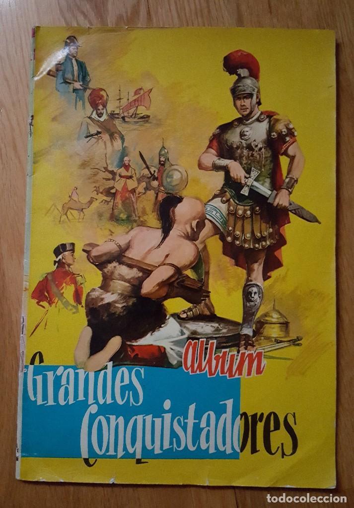 ALBUM GRANDES CONQUISTADORES CHOCOLATES SOLE. COMPLETO (Coleccionismo - Cromos y Álbumes - Álbumes Completos)