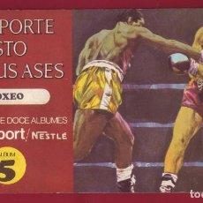 Coleccionismo Álbum: NESTLE - EL DEPORTE VISTO POR SUS ASES 5 BOXEO - ÁLBUM COMPLETO. Lote 101306163