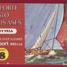 Coleccionismo Álbum: NESTLE - EL DEPORTE VISTO POR SUS ASES 8 REMO Y VELA - ÁLBUM COMPLETO. Lote 101306259