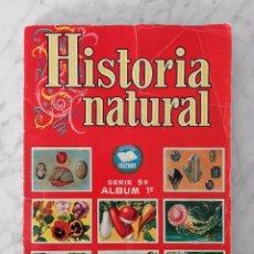 Coleccionismo Álbum: HISTORIA NATURAL - ALBUM 1º - SERIE 5ª - 500 CROMOS - 1ª EDICIÓN - ED. BRUGUERA - 1958 - COMPLETO. Lote 102073103