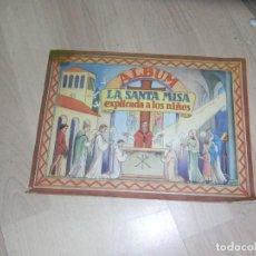 Coleccionismo Álbum: ALBUM, LA SANTA MISA EXPLICADA A LOS NIÑOS, 64 FOTOS COMPLETO, ED VILAMALA. Lote 102452399