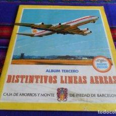 Coleccionismo Álbum: DISTINTIVOS LÍNEAS AÉREAS ÁLBUM TERCERO COMPLETO 170 CROMOS 1969 CAJA AHORROS MONTE PIEDAD BARCELONA. Lote 103312007