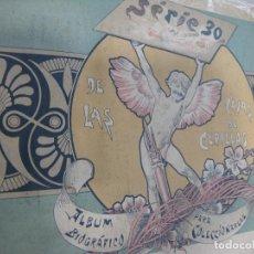 Coleccionismo Álbum: ALBUM BIOGRÁFICO COMPLETO FOTOTIPIAS CAJAS CERILLAS SERIE 30. Lote 103320763