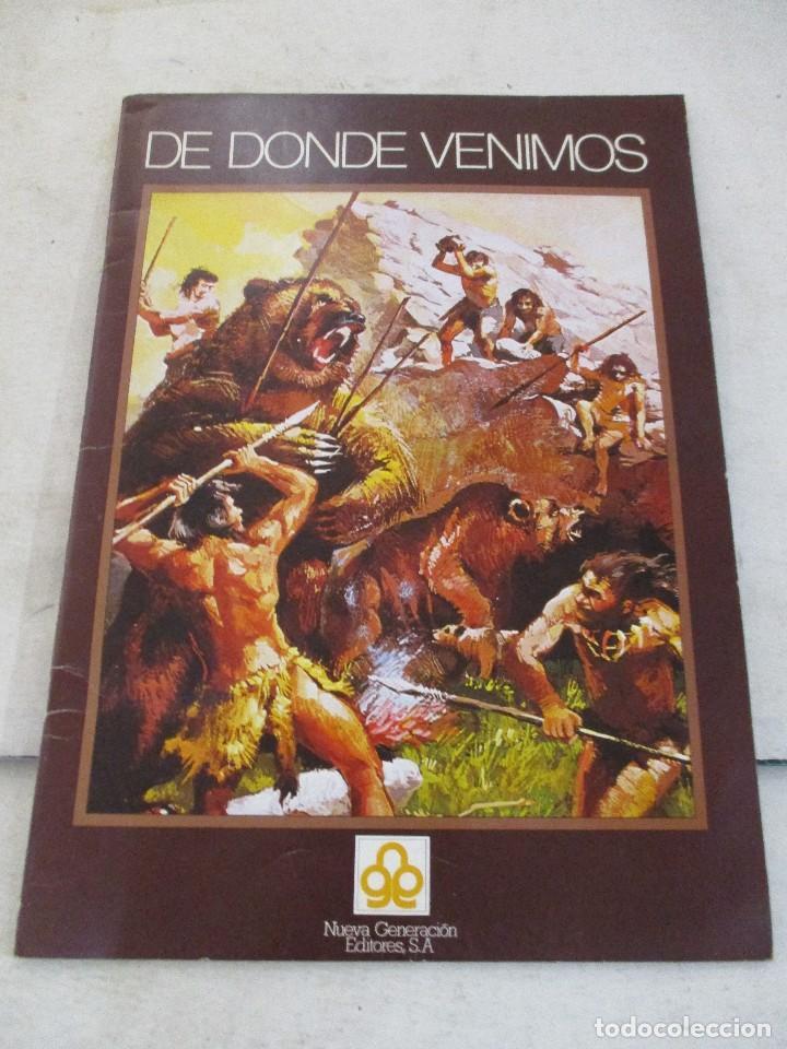 COLECCION CROMOS DE DONDE VENIMOS ALBUM COMPLETO EDICIONES NUEVA GENERACION (Coleccionismo - Cromos y Álbumes - Álbumes Completos)
