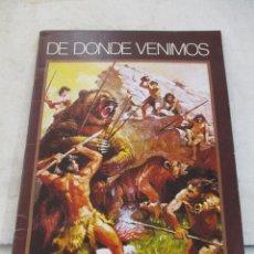 Coleccionismo Álbum: COLECCION CROMOS DE DONDE VENIMOS ALBUM COMPLETO EDICIONES NUEVA GENERACION. Lote 103515975