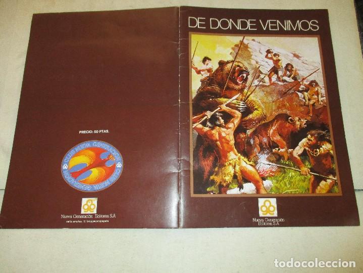 Coleccionismo Álbum: COLECCION CROMOS DE DONDE VENIMOS ALBUM COMPLETO EDICIONES NUEVA GENERACION - Foto 2 - 103515975