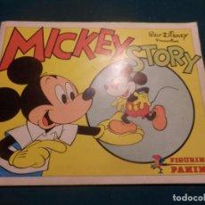 Coleccionismo Álbum: MICKEY STORY - WALT DISNEY - ÁLBUM DE CROMOS COMPLETO (FALTAN PEGATINAS) PANINI - CROMO CROM 1982. Lote 103665163