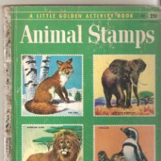 Coleccionismo Álbum: LITTLE GOLDEN LIBRARY ALBUM ANIMAL STAMPS. COMPLETO.. Lote 103789459