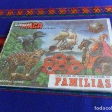 Coleccionismo Álbum: PRECINTADO, ÁLBUM PLANCHA Y CROMOS SIN PEGAR. COLECCIÓN DE CROMOS Y JUEGOS DE FAMILIAS. MAGA 1978.. Lote 103936391