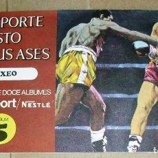Coleccionismo Álbum: ÁLBUM COMPLETO.EL DEPORTE VISTO POR SUS ASES. Nº 5. BOXEO. CHOCOSPORT/ NESTLE.1967. 21CM.X 12CM. Lote 103952759
