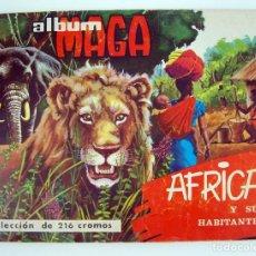 Coleccionismo Álbum: ALBUM 1965 MAGA AFRICA Y SUS HABITANTES. COMPLETO. ANIMALES, RAZAS Y COSTUMBRES. VER FOTOS. Lote 104059371