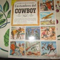 Coleccionismo Álbum: ALBUM CROMOS COSTUMBRES DEL COWBOY COMPLETO. Lote 104315671