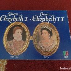 Coleccionismo Álbum: QUEEN ELIZABETH I QUEEN ELIZABETH II. Lote 104864591