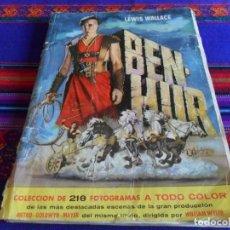 Coleccionismo Álbum: BEN-HUR BEN HUR COMPLETO 216 CROMOS. BRUGUERA 1960. REGALO LOS DIEZ MANDAMIENTOS INCOMPLETO.. Lote 104940651