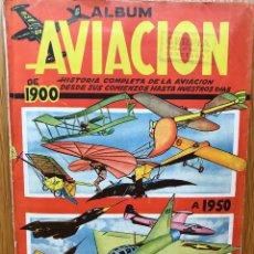 Coleccionismo Álbum: ÁLBUM AVIACIÓN DE 1900 A 1950 - EDICIONES CLIPER - AÑO 1950 - COMPLETO Y MUY BUENA CONSERVACIÓN. Lote 105046771