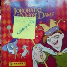 Coleccionismo Álbum: ÁLBUM COMPLETO EL JOROBADO DE NOTRE DAME. Lote 105455488