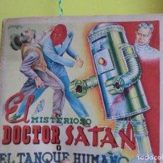 Coleccionismo Álbum: MISTERIOSO DOCTOR SATAN O EL TANQUE HUMANO,( ALBUM DIFICIL DE CROMOS AÑOS 40-50 DE FHER). Lote 105662139