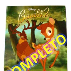 Coleccionismo Álbum: ALBUM CROMOS COMPLETO BAMBI 2 PANINI DISNEY 2004. Lote 69722673