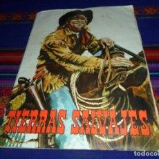 Coleccionismo Álbum: TIERRAS SALVAJES COMPLETO 168 CROMOS. CHOCOLATES EL BARCO CHOCOLATE EL TORO 1966 VILLAJOYOSA DIFÍCIL. Lote 105906543
