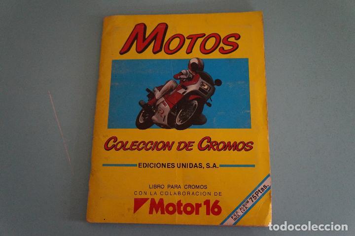 ALBUM DE MOTOS AÑO 1987 DE EDITORIAL UNIDAS,S.A (Coleccionismo - Cromos y Álbumes - Álbumes Completos)