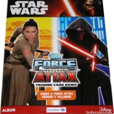 Coleccionismo Álbum: ALBUM COMPLETO STAR WARS TOPPS FORCE ATTAX TRADING CARD GAME CARREFOUR. Lote 107525723