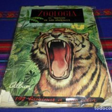 Coleccionismo Álbum: ZOOLOGÍA COMPLETO 192 CROMOS. FERCA 1961. REGALO AL LADO DE LOS ANIMALES INCOMPLETO.. Lote 107875163