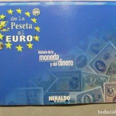 Coleccionismo Álbum: DE LA PESETA AL EURO.HISTORIA DE LA MONEDA Y DEL DINERO / 1998 HERALDO DE ARAGÓN. Lote 108163931